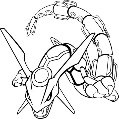 pokemon coloring pages  kids pokemon rayquaza