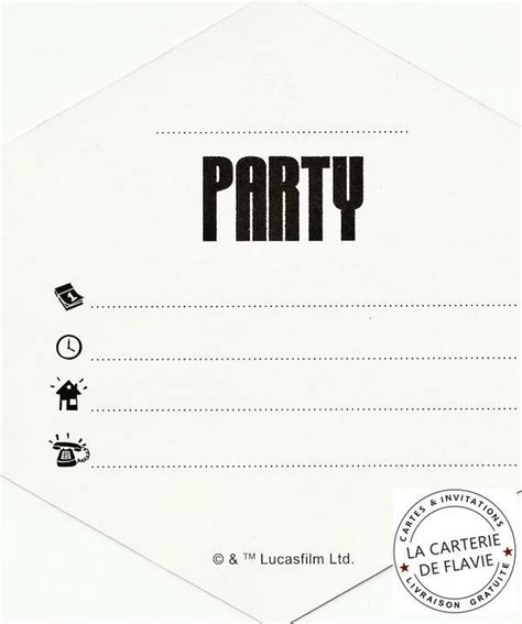 Carte d'invitation anniversaire simple ...