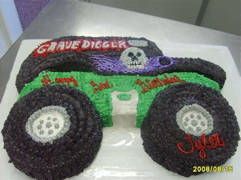 Digger Cake Template Grave Digger Birthday Cakes Pinterest Birthdays