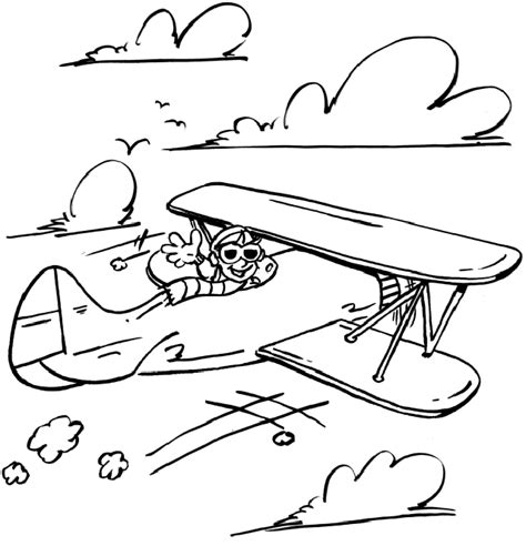 airplane coloring pages  preschool fcp