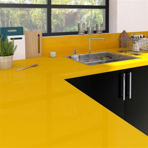 plan de travail cuisine granit prix plan de travail stratifié jaune serin brillant l 300 x p