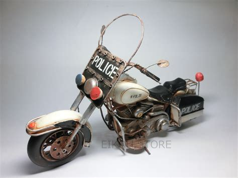 Vintage Police Bike ☆ Tin Toys Police Cars Bike