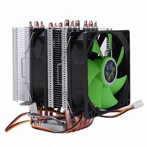 Lanshuo 6 Heat Pipe 3 Wire Without Light Double Fan Cpu