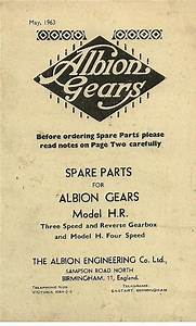 Albion Gears Model H R  Gearbox Parts Manual