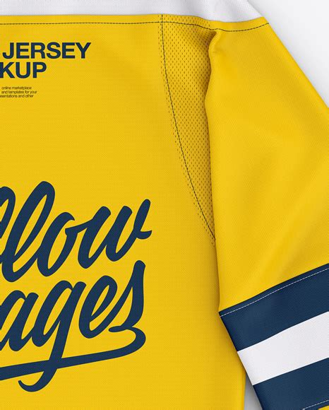 You will be provided with 5 special features entirely for free! Men's Lace Neck Hockey Jersey Mockup - Back Top View in ...
