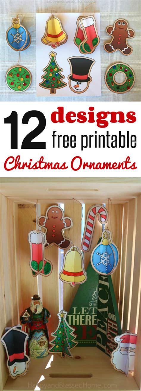 12 Free Christmas Ornaments Printables And A Christmas