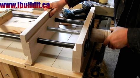 homemade woodworking vise preview youtube