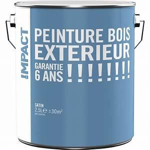 Peinture Bois Extrieur IMPACT Blanc 25 L Leroy Merlin