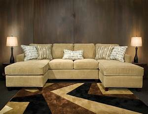 Sectional sofa with double chaise for Sectional sofa bed with chaise lounge