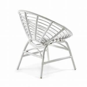 Coussin Fauteuil Rotin : fauteuil en rotin blanc coussin coton lou by drawer ~ Preciouscoupons.com Idées de Décoration