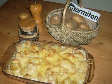 gratin de chou fleur et pommes de terre recette de
