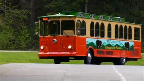 Gatlinburg Free Trolleys on Parkway in 2013
