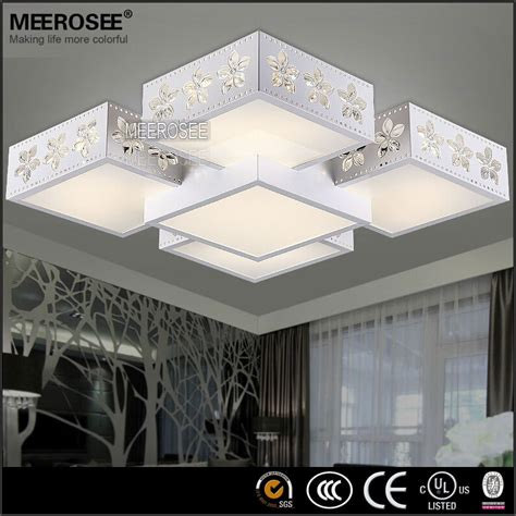 pas cher gros rectangle led plafonnier moderne fleur impression lumi 232 re pour salon md2443 lustre