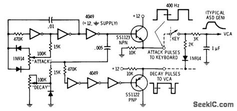 Attack Decay Generator Basic Circuit Diagram