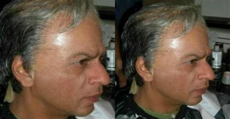original photo  shahrukh khan  wig ad makeup