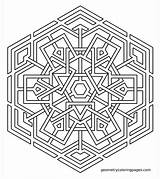 Coloring Pages Mandala Geometric Geometry Celtic Printable Snowflake Hard Colouring Adult Designs Imgur Pattern Shape Sheets Geometrycoloringpages Sacred Meditations Books sketch template