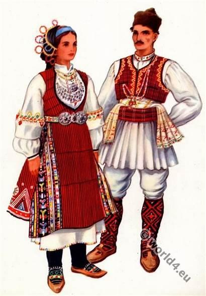 Macedonian Costume National Costumes Serbian Traditional Folk