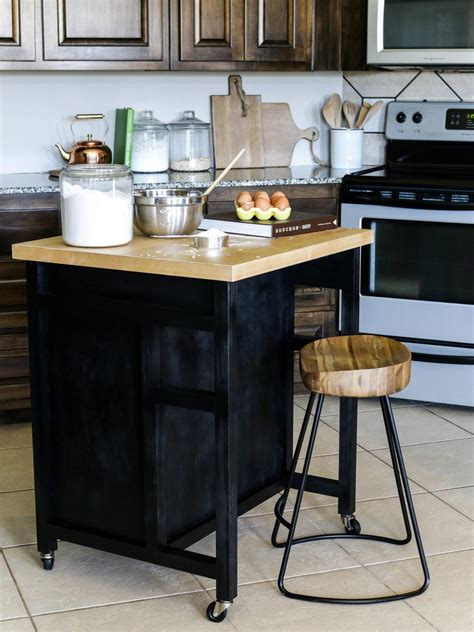built in kitchen island how to build a diy kitchen island on wheels hgtv 4990