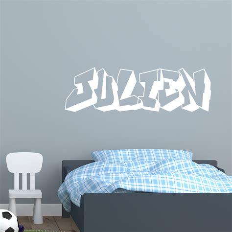 sticker chambre garcon sticker prénom personnalisé graffiti stickers chambre