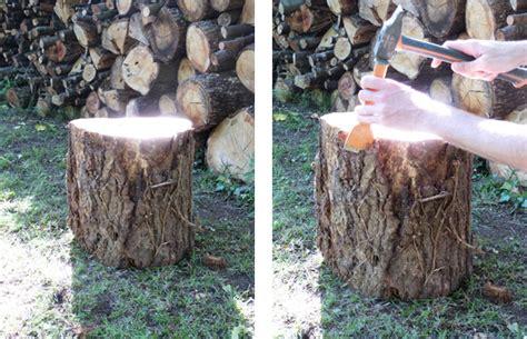 chevet du bois joli table de nuit rondin couture turbulences