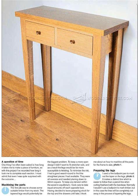 dining table construction plans 25 fantastic hall table plans woodworking plans egorlin com