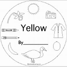 Yellow Things Color Book For Early Readers Enchantedlearningcom