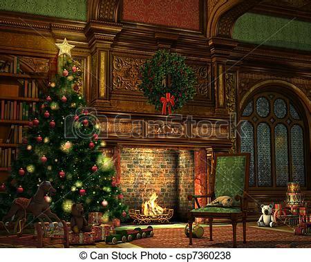 living room  christmas eve