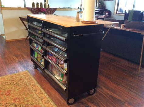 tool box    kitchen island