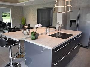 revgercom deco cuisine grise anthracite idee With idee deco cuisine avec cuisine laqué gris anthracite