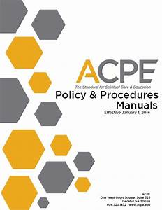 Cover Page - Acpe Policy And Procedures