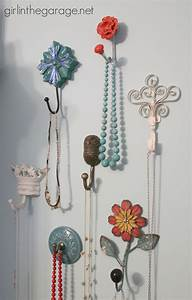 Decorative wall hooks as jewelry storage girl in the garage?