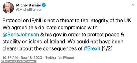 Michel Barnier urges Boris Johnson to 'stick to facts' on ...