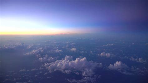 View Of The Sky by Beautiful Morning Or Evening Sky View From Plane Window