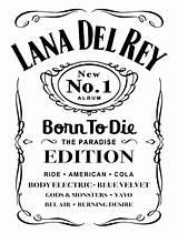 Daniels Jack Lana Rey Label Lyrics Whiskey Beauty Clipart Logos Desde Song Frame Bar Via Log Drinking Tattoo Guardado Zapisano sketch template