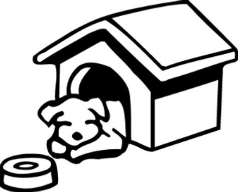 coloring page  sleeping   dog house
