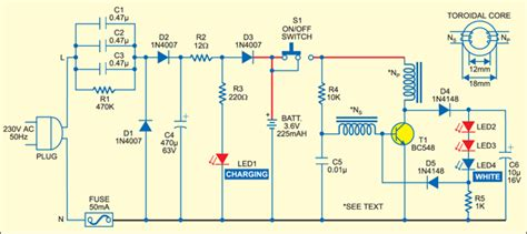 Li Led Flashlight Diagram by Build A Rechargeable Torch Based On White Led