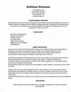 1 day care center director resume templates try them now With daycare resume examples