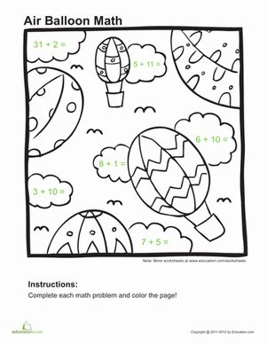 1st grade math addition coloring worksheet addition coloring page worksheet education
