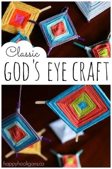 colourful gods eye craft weaving  kids happy hooligans