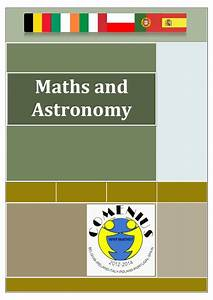 Maths and Astronomy Comenius Why Maths