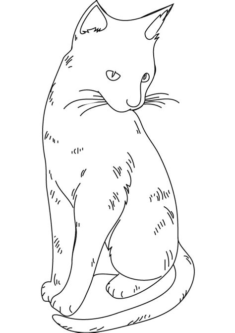 Kleurplaat Poezenkop by Dibujos De Gatitos Simp 225 Ticos Para Colorear Colorear