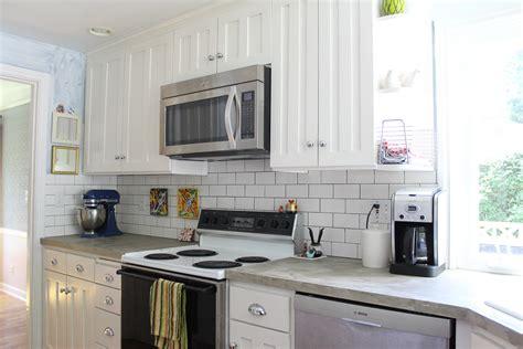 how to put up backsplash in kitchen kitchen subway tile backsplash better remade