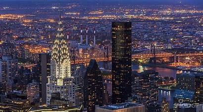 Manhattan Evening York Buildings Uhd Lapse Samsung