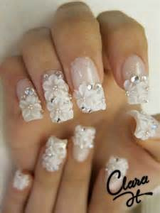 wedding nails design aimee 39 s picks for the most fashionable nail white flowers design nail