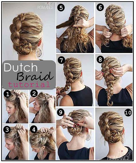 side dutch braid    beginners