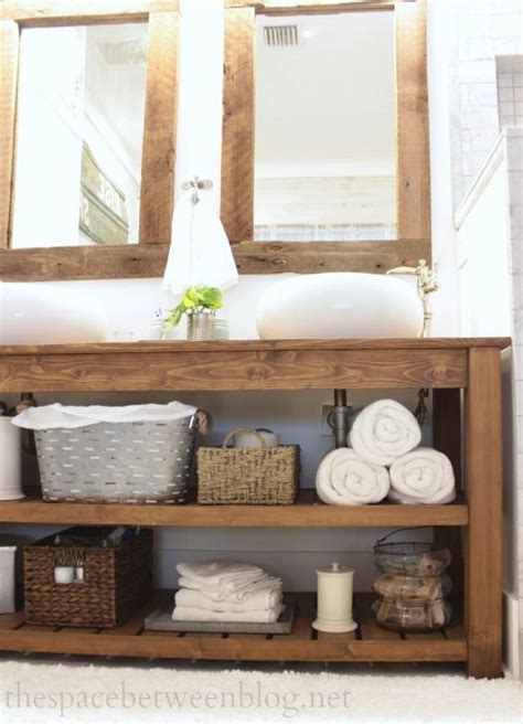 vanity with shelves 34 rustic bathroom vanities and cabinets for a cozy touch