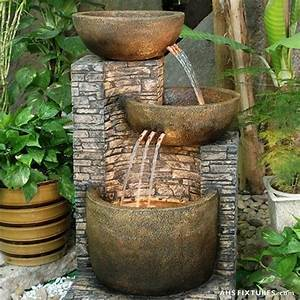 16 wonderful fountains with lights for your garden top for Large outdoor fountains