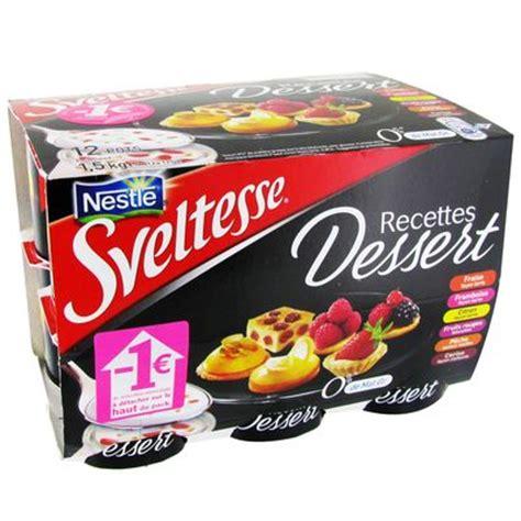 sveltesse recettes dessert panaches 12x125g tous les