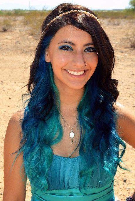Blue Ombre Hair Dye Kit Seafoam Hair Chalk Set Of 6