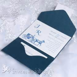 inexpensive wedding invitations cheap vintage carriage blue pocket wedding invitations iwps081 wedding invitations